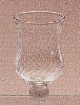 "Votive Holder with Peg - ""Peg Votive Holder with Swirl Glass"""