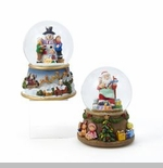 "Waterglobe - ""Battery Operated Santa Or Snowman Waterglobe"""