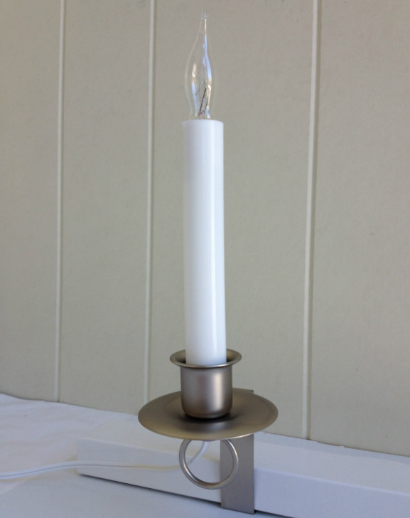 Window Candle - Cambridge Electric Light - Pewter - ON/OFF Switch