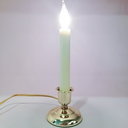 Candle - Cape Cod Electric Light - Brass - ON/OFF Switch