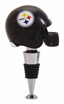"Wine Bottle Stopper  - ""Pittsburgh Steelers Helmet Wine Bottle Stopper"""
