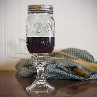 "Wine Glass - ""Redneck Wine Glass"""