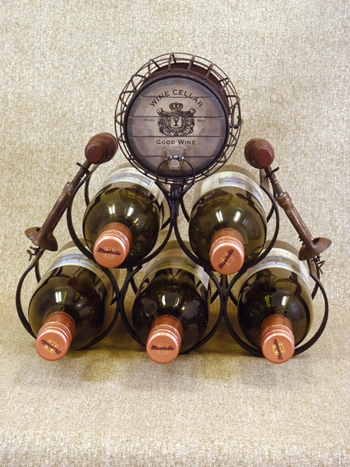 "Wine Rack  - ""Five Bottle Wine Rack"""