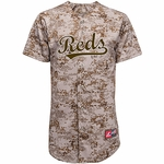 Cincinnati Reds Alternate Camo Adult Replica Jersey