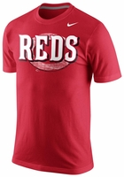 Cincinnati Reds Nike 2014 Red Tri-Blend Wordmark Logo T-Shirt