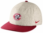 Cincinnati Reds Nike Grey Cooperstown Wool Adjustable Hat