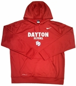 Dayton Flyers Nike Red Therma Fit Fleece Hooded Sweatshirt