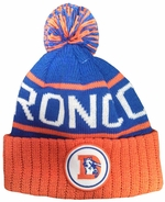 Denver Broncos Mitchell and Ness Cuffed Knit Hat