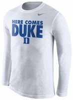 Duke Nike White Long Sleeve Legend Warm Up T-Shirt
