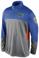 Florida Gators Nike Grey Shootaround Long Sleeve Quarter Zip T-Shirt