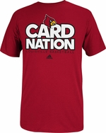 Louisville Cardinals Adidas Red Card Nation T-Shirt