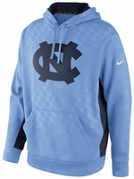North Carolina Nike Light Blue Lacrosse KO Practice Hooded Sweatshirt