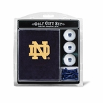 Notre Dame Embroidered Towel Golf Gift Set
