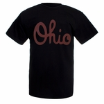 Ohio State Black Vintage Script Ohio T-Shirt