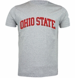 Ohio State J. America Grey Arched Wordmark T-Shirt