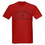 Ohio State J. America Red Arched Block Buckeyes Football T-Shirt