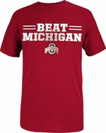 "Ohio State J. America Red ""Beat Michigan"" T-Shirt"
