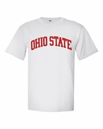Ohio State J. America White Arched Wordmark T-Shirt