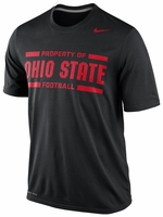 Ohio State Nike Black Dri-FIT Practice Legend T-Shirt