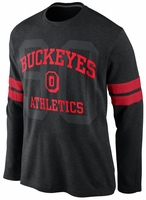 Ohio State Nike Black Vault Long Sleeve Thermal T-Shirt