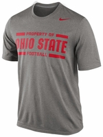 Ohio State Nike Grey Dri-FIT Practice Legend T-Shirt