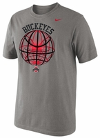 Ohio State Nike Grey Fusion Power Glow Ball T-Shirt