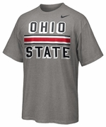 Ohio State Nike Grey Helmet Stripe T-Shirt