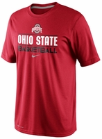 Ohio State Nike Red Basketball Team Issue Practice T-Shirt