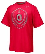 Ohio State Nike Red Football Icon T-Shirt