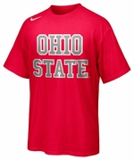 Ohio State Nike Red Hyper Elite Uniform Hook T-Shirt