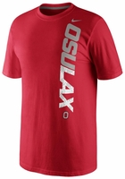 Ohio State Nike Red Lacrosse Practice Dri-Fit T-Shirt