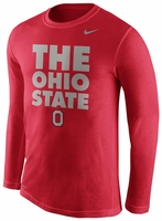 Ohio State Nike Red Long Sleeve Legend Warm Up T-Shirt