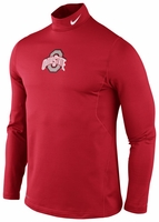 Ohio State Nike Red Performance Pro Combat Hyperwarm Long Sleeve T-Shirt