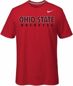 Ohio State Nike Red React Chainmail T-Shirt