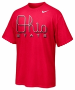 Ohio State Nike Red Script Ohio T-Shirt