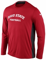 Ohio State Nike Red Speed Legend Long Sleeve T-Shirt