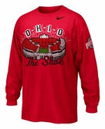 "Ohio State Nike Red ""The Shoe"" Long Sleeve T-Shirt"