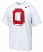 "Ohio State Nike White Dri-Fit Block ""O"" Rivalry Legend T-Shirt"