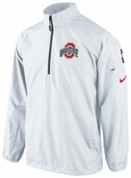 Ohio State Nike White Lockdown Half-Zip Jacket
