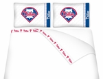 Philadelphia Phillies Queen Micro Fiber Sheet Set