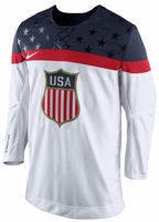 Team USA 2014 Men's Hockey Nike White Replica Jersey