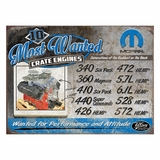Mopar Most Wanted Metal Sign