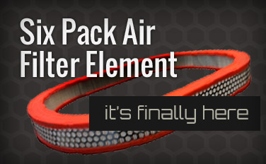 six pack air filter element