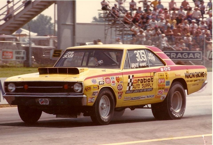 Bruce Hawk Mancini Racing Team Member from the 1970's