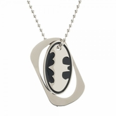Batman Bat Symbol Metal Cut Out Dog Tag Necklace