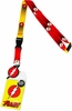 DC Comics The Flash Logos Lanyard Sticker ID Badge Holder and Charm