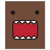 Domo-Kun: Domo Face Micro Rashel Throw Blanket