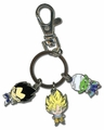 Dragon Ball Z: Metal Goku, Vegeta, and Piccolo Key Chain