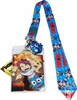 Fairy Tail: Natsu and Happy Lanyard with Badge ID Holder & Happy Charm