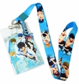 Free! Anime Group Lanyard with ID Holder and Charm